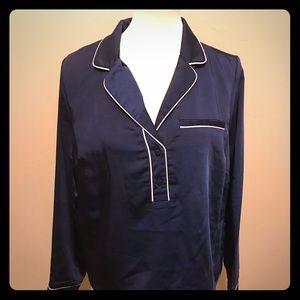 Code Mode satin pj pajama blouse Nordstrom Rack